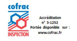 Logo COFRAC avec n° accréditation